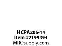 PTI HCPA205-14 TAPPED BASE PILLOW BLOCK BEARING-7/ PA 200 SILVER SERIES - NORMAL DUTY