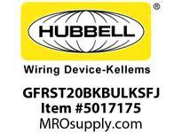 HBL_WDK GFRST20BKBULKSFJ 20A COM SELF TEST CF GFR BLACK BULK
