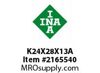 INA K24X28X13A Needle roller cage assembly