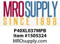 STANDARD P40XL037MPB ALUMINUM TIMING PULLEY