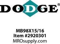 DODGE MB98X15/16 BK100 X 15/16 SHEAVE DRIVE COMPONENTS