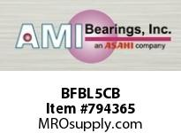 AMI BFBL5CB 25MM NARROW SET SCREW BLACK 3-BOLT SINGLE ROW BALL BEARING