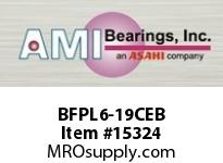 AMI BFPL6-19CEB 1-3/16 NARROW SET SCREW BLACK 4-BOL BLACK4-BOLT PLASTIC HSG W/C.C & BS