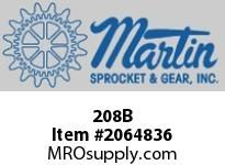 Martin Sprocket 208B RAILPLASTICBLUE8""