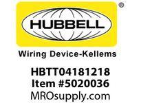 HBL_WDK HBTT04181218 WBPREFORM RADI T 4^Hx18^Wx12^Wx18^W