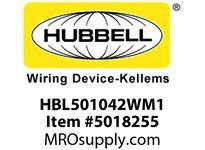 HBL_WDK HBL501042WM1 W/PROOF ELEC REEL 50 10/4 SO WH