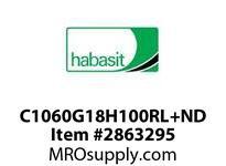 """Habasit C1060G18H100RL+ND 1060/1061-18T X 1"""" Split Idler Sprocket Silent"""