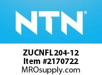 NTN ZUCNFL204-12 Mounted Units (Plastic)