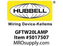 HBL_WDK GFTW20LAMP 20A RESI GFR TRWR LT ALM