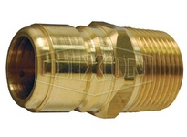 DIXON STMP4B BRASS STRAIGHT THRU PLUG X 1/2MALE