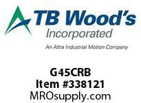 TBWOODS G45CRB 4 1/2CX1 3/4 RB GEAR HUB