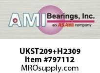 AMI UKST209+H2309 40MM NORMAL WIDE ADAPTER WIDE SLOT ROW BALL BEARING