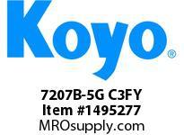 Koyo Bearing 7207B-5G C3FY ANGULAR CONTACT BEARING