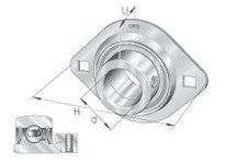 INA PCSLT25 Two-bolt oval flanged unit