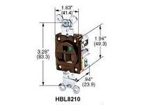 HBL-WDK HBL8210 SGL RCPT HG 15A 125V 5-15R BR