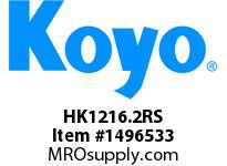 Koyo Bearing HK1216.2RS NEEDLE ROLLER BEARING DRAWN CUP CAGED BEARING