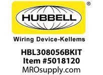 HBL_WDK HBL308056BKIT BLACK POB WITH SEC100BA AND HBL3056