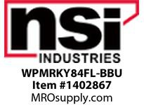 NSI WPMRKY84FL-BBU MED SEMI-CUTOFF VANDAL RESISTANT WALLPACK 84 WATT CFL WITH BATTERY BACKUP 120/277