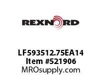 REXNORD LF593512.75EA14 LF5935-12.75 E8-3/16DT14P 152476