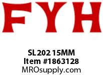 FYH SL202 15MM PILLOW BLOCK-NORMAL DUTY SETSCREW LOCKING