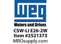 WEG CSW-LI E26-2W Incandescent Bulb 24 VAC/VDC Pushbuttons