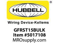 HBL_WDK GFRST15BULK 15A COM SELF TEST GFR BROWN BULK