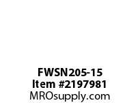 PTI FWSN205-15 PILOTED 4-BOLT FLANGE BEARING-15/16 FWSN 200 SILVER SERIES - NORMAL DUT