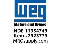 WEG NDE-11354749 NDE END-BELL (FOR 10020148) Motores