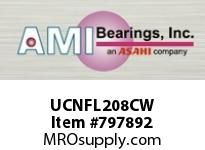 AMI UCNFL208CW 40MM WIDE SET SCREW WHITE 2-BOLT FL ROW BALL BEARING