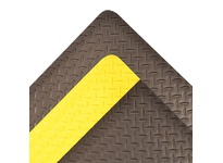 NoTrax 509R4875BL 509 Diamond-Tuff 4X75 Black Vinyl diamond-plate top surface combined with dense closed cell foam base utilizing exclusive UniFusion technology. UniFusion bond guaranteed for the life of the mat. 9/16^ overall thickness. An