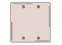 HBL-WDK NP23W WALLPLATE 2-G 2 BOX MT BLANK WH