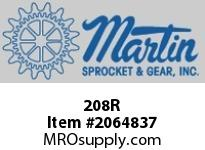 Martin Sprocket 208R RAILPLASTICRED8""
