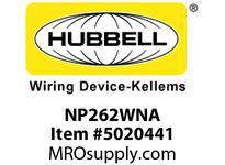 HBL_WDK NP262WNA WALLPLATE 2-G 2) RECT WHITE