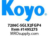 Koyo Bearing 7206C-5GLX2FGP4 PRECISION ANGULAR CONTACT BEARING