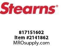 STEARNS 817151602 SHFT EXTENDER-USEM#378736 153821