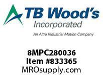 TBWOODS 8MPC280036 8MPC-2800-36 QTPCII BELT