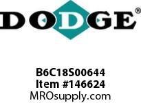 DODGE B6C18S00644 BB683 180-CC 6.44 1-5/8^ S SHFT