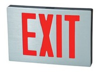 Fulham FHNY21BDAC FireHorse NYC Exit Sign - LED - Black Housing with Black Faceplate - Dual Face - Red Letters - AC Only