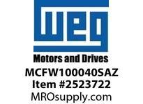 WEG MCFW100040SAZ CFW10 MICRO COOL VERSION VFD - CFW