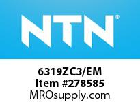 NTN 6319ZC3/EM MEDIUM SIZE BB(STD)D>80<=203.2