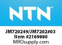 NTN JM720249/JM7202#03 Medium Size TRB 101.6<D<=203.2
