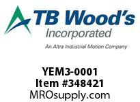 TBWOODS YEM3-0001 1/2 HP TEFC MOTOR
