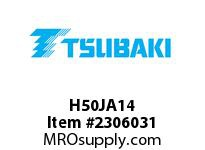 US Tsubaki H50JA14 HT Cross Reference H50JA14 QD SPROCKET HT
