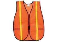 MCR V211R Poly Mesh Safety Vest 3/4 Lime Stripe 18 X 47 ORANGE