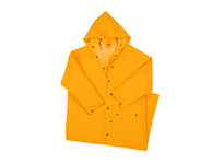 West Chester 4160/XL 35ml PVC over Polyester 60^ Rider Coat Detachable Hood - Yellow