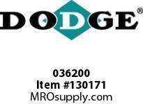 DODGE 036200 TUB-207-TUBRG