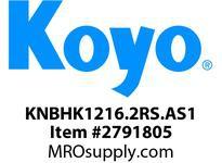 Koyo Bearing HK1216.2RS.AS1 NEEDLE ROLLER BEARING