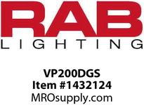 RAB VP200DGS VAPORPROOF 200 PENDANT 1/2 SILVER GLASS GLOBE CAST GUARD