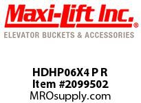 Maxi-Lift HDHP06X4 P R HD-MAX LOW-PROFILE POLYETHYLENE ELEVATOR BUCKET