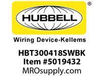 HBL_WDK HBT300418SWBK WBPRFRM RADI 30 4Hx18W BLACKSTLWLL